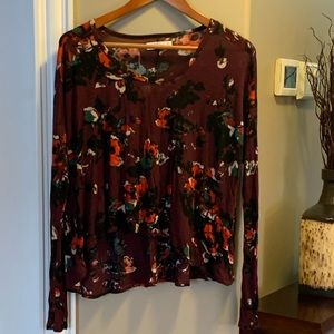 Abercrombie & Fitch floral long sleeve tee